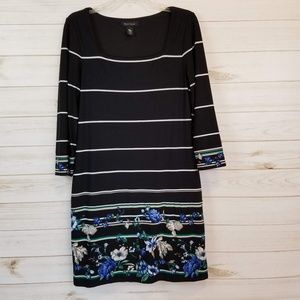 White house black market 3/4 sleeve floral dress